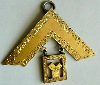 Antique Masonic Past Master Silver Gold Gilt Medal. Hallmarked.