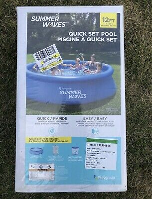 """SUMMER WAVES 12' x 30"""" Quick Set Above Ground Swimming Pool with Filter/Pump"""