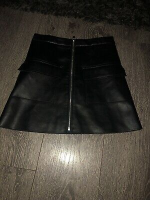 Girls River Island Faux Leather Skirt Age 10