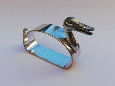 Vintage WMF Silver Plated Duck Napkin Ring c.1930-35