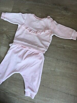 Girls Velour Tracksuit 3-6 Months NEXT Hardly Used