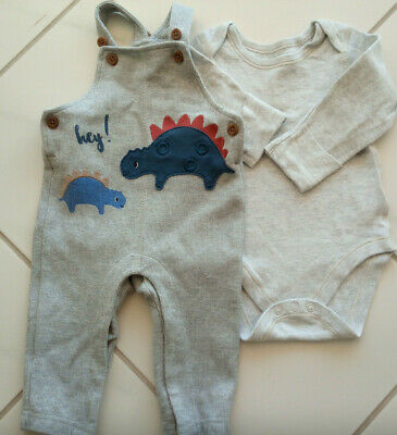 Baby boy 3-6 months Marks and Spencer set outfit with dungaree