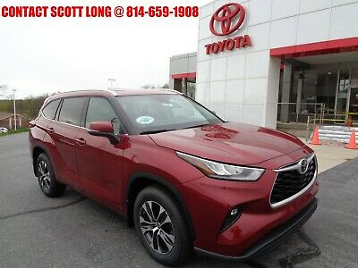 2020 Toyota Highlander New 2020 Highlander XLE 3.5L V6 AWD 2020 Highlander XLE AWD 3.5L V6 Navigation Sunroof 8 Passenger Rear Camera Red