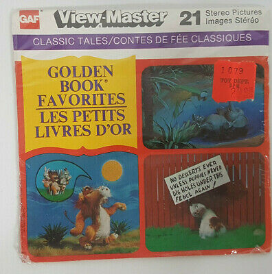 vintage GOLDEN BOOK FAVORITES VIEW-MASTER REELS packet new/sealed (Canadian)