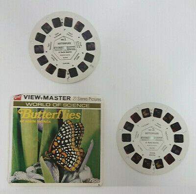 vintage BUTTERFLIES OF NORTH AMERICA VIEW-MASTER REELS packet (missing reel 2)