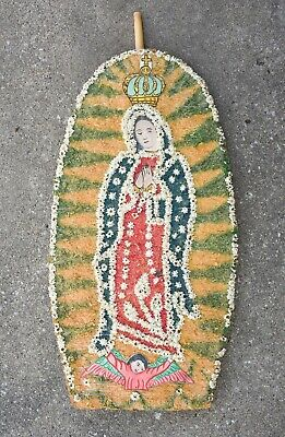 Virgin of Guadalupe festival piece,  Vtg Mexican Folk Art