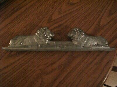 Vintage Lion Cast Aluminum Allied Chain Link Fence Topper