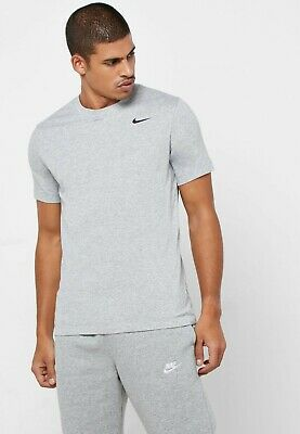 NEW Nike Pro Dri-Fit Mens Small Fitted Gray Short Sleeve Athletic Gym Shirt D1
