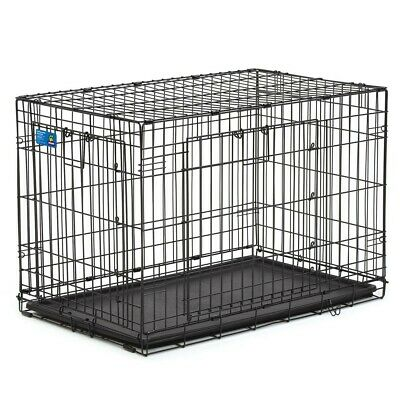 "Top Paw Double-Door Folding Dog Crate - 36""L x 23""W x 25""H - Large"