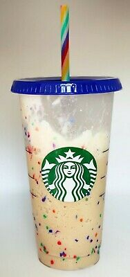 Starbucks Color Changing Confetti Cup w/Rainbow Straw Pride Summer 2020 Reusable