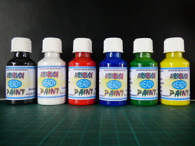 AIRBRUSH READY PAINT ..6  Colours in 25 ml Bottles