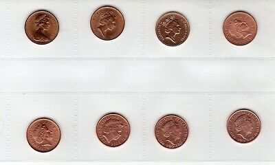 Various decimal coins(mostly uncirculated) - 1p, 2p, 5p, 20p.(23 coins in total)
