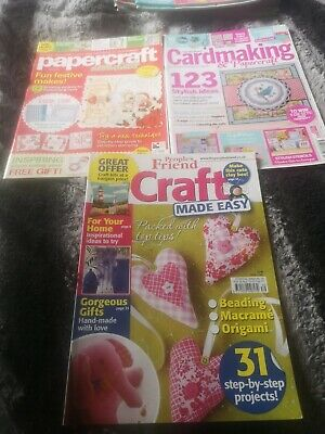 3x Crafting/ Papercraft/ Card Making Magazines.