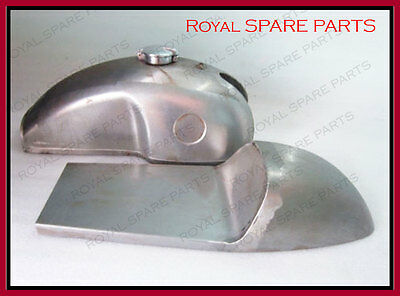 Benelli Mojave Cafe Racer Raw Fuel Tank With Seat Hood & Monza Cap