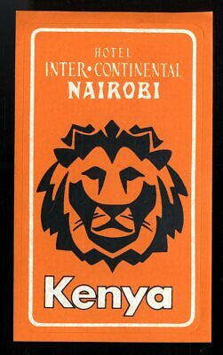 Hotel Inter-Continental - Nairobi (16 cm) - étiquette valise - Luggage Label