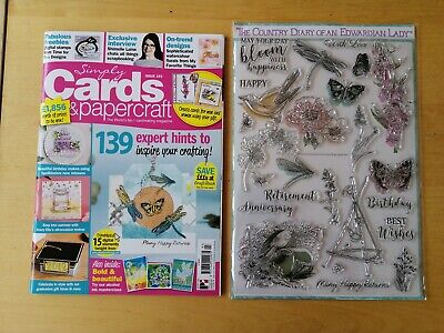 Simply Cards and Papercraft Magazine - Issue 193 with NEW free clear stamps.
