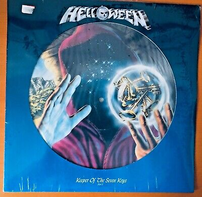 HELLOWEEN KEEPER OF THE SEVEN KEYS Part 1 1988 PICTURE DISC VINYL LP + stickers