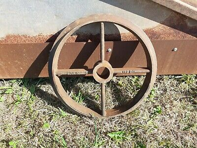 Cast Iron Wheel Cousins Cambridge Roller 22 Inch Diameter