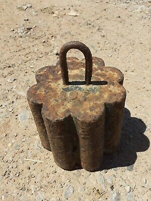 Vintage Decorative Cast Iron Weight - Very Unusual - Fabulous For Home or Garden