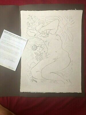 "HENRI MATISSE ""Moments de timidé"" LITOGRAFIA SU CARTA JAPON 45X60"
