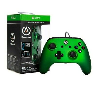 NEW Microsoft Xbox One PowerA Enhanced Wired Controller Emerald Fade