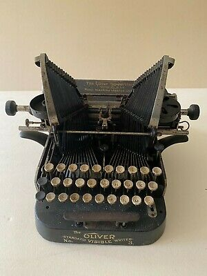 Antike Schreibmaschine The Oliver Mod. 3 original rare Typewriter
