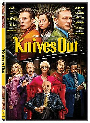 Knives Out (2019) DVD New & Sealed Free Shipping Included