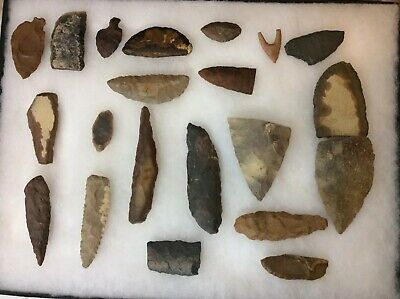 "Twenty (20) Western Sahara Neolithic ""Tools"" Crafted from Chert 5-3,000 Yrs Ago"