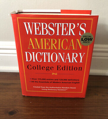 WEBSTER'S AMERICAN DICTIONARY: COLLEGE EDITION Hardcover Excellent Condition