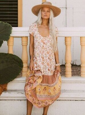 spell and the gypsy collective Portobello Midi In Honeydew Sz. Large BNWT