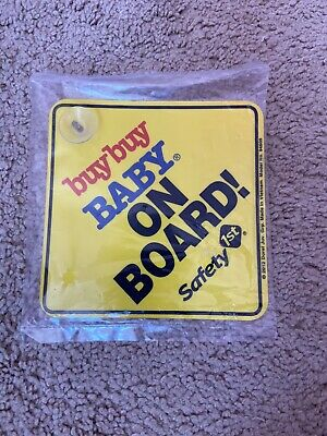Baby On Board Suction Sign