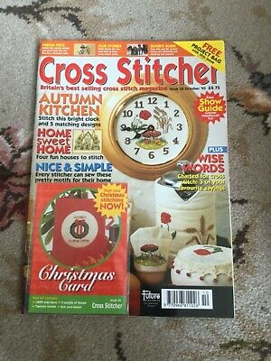 Cross Stitcher Magazine October 1995 with free Christmas Card