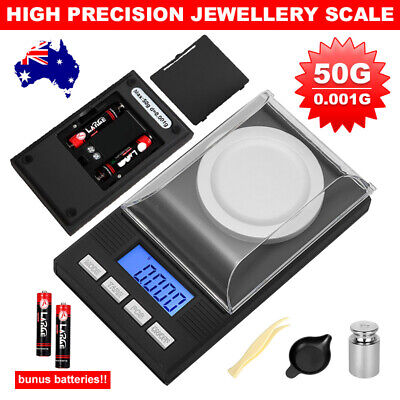 Electronic Digital Scales High Precision Milligram 50g/0.001g Jewelry Scales