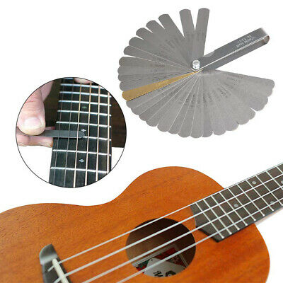 Fretboard Durable Notched Guitar Luthier Tools Set String Action Radius Gauge