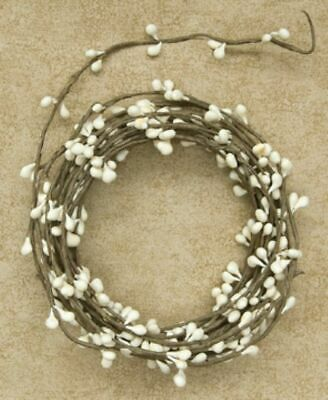 IVORY- Pip Berry-Single Ply-String Garland 18 Ft Long-COUNTRY- Floral-Craft