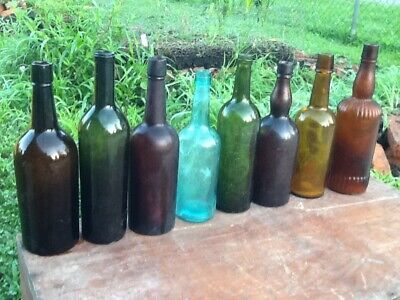 Vintage antique old whiskey bottle lot wholesale Louisiana collection