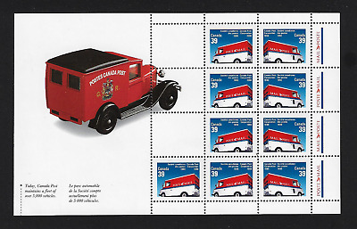 Canada Stamps — Pane of 9 — Canada Post Corporation #1273b MNH