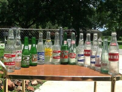 Vintage antique bottle lot wholesale Louisiana collection acl soda root beer