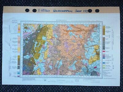 Geological Survey Map - Wolverhampton - 1968 - Drift edition - Old map