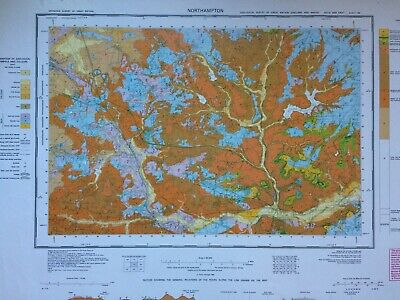 Geological Survey Map - Northampton - 1990 - Solid and drift edition - Old map
