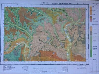 Geological Survey Map - Beaconsfield - 1974 - Drift edition - Lovely old map