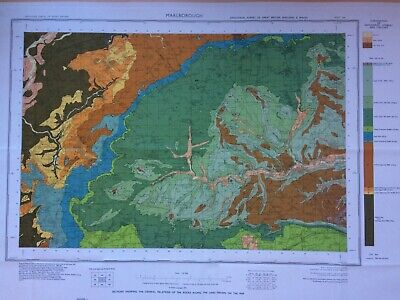Geological Survey Map - Marlborough - 1974 - Solid and Drift - Lovely old map