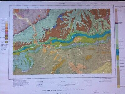 Geological Survey Map - Reigate - 1978 - Drift edition - Lovely old map