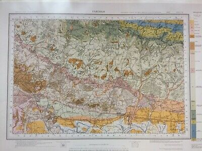 Geological Survey Map - Fareham - 1971 - Drift Geology - Lovely old map