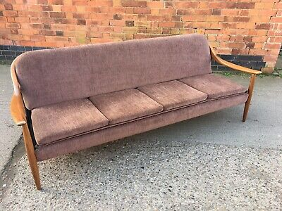 Retro 4 Seater 1960's Greaves and Thomas Sofa/Day Bed Vintage Teak Midcentury