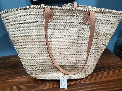 Cosydar-Deco Handmade Palm Leaf Basket with long handles 28 cm 615908