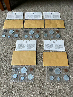 5 Five 1967 Canada 6 Six Coin Prooflike Proof-Like Silver Set in Mint Packaging