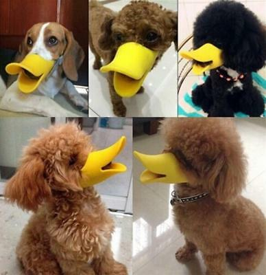 Cute Puppy Pet Dog Anti-barking Muzzle Duck Guard Face Lip Mouth Protection MN