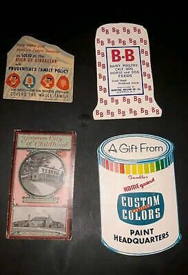 Vintage Advertising Needle Sets Lot Of 4