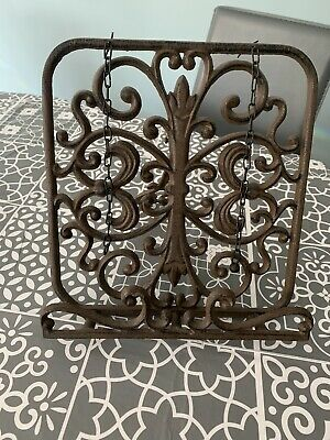 cast iron cook book stand